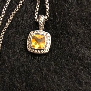 David Yurman Albion citrine petite necklace